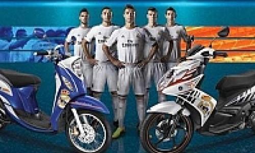 Yamaha Fino dan Nouvo SX Berbaju Real Madrid