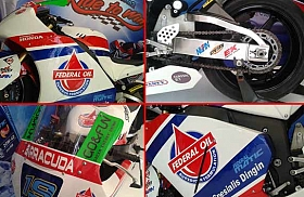 Motor Balap Tim Federal Oil Gresini Moto2 Mejeng di Otobursa 2014!
