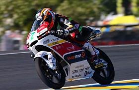 Efren Vazquez Huni Pole Position Moto3 Le Mans, Perancis