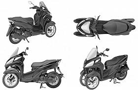 Yamaha Patenkan Wajah Anyar Skutik Roda Tiga Tricity