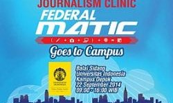 Universitas Indonesia Jadi Tuan Rumah Journalism Clinic Federal Matic ke-3