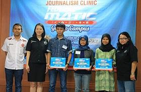 Ini Dia Pemenang Tiga Artikel Terbaik Journalism Clinic Federal Matic di UGM