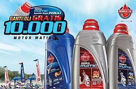 Federal Matic Peduli Gelar Ganti Oli Gratis Buat 10.000 Motor Matic