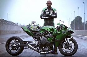 Kawasaki Ninja H2R Versi Drag