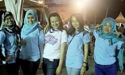 Peserta Wanita Ikut Ramaikan Spesial City Rally Surabaya