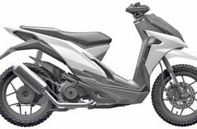 Honda Adventure Scooter, Masih Berbentuk Sketa