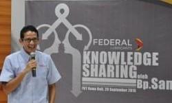 Knowledge Sharing Federal Karyatama, Sandiaga S. Uno Pembicaranya