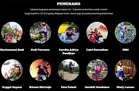 Ini Sepuluh Pemenang Experience The Race, Masih Dicari 15 Pemenang Lagi Untuk Nonton MotoGP Malaysia