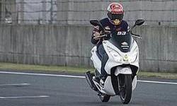 Marc Marquez Tes Honda All New PCX 150 di Sirkuit Motegi