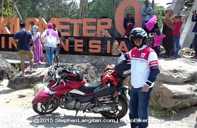 Federal Racing Tangguh Taklukan Sumatera, Sampai Nol Kilometer