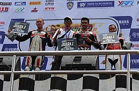 Tampil Perdana Bersama Federal Oil, Fariz Ibrahim Raih Podium di Yamaha Sunday Race