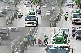 Masih banyak Pengendara Menerobos Jalur Busway, Polisi Mulai Menindaknya
