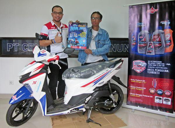 Pemenang Federal Matic Special Cool Prizes Asal Bali Terima Mio Soul GT