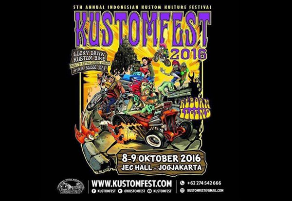 Beli Oli di Kustomfest Jogjakarta 2016, Raih 2 Tiket Nonton MotoGP Sepang