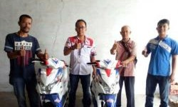 Dua Pemenang Federal Oil Spesial Surprizing Is Back Area Banten Terima Motor Matic