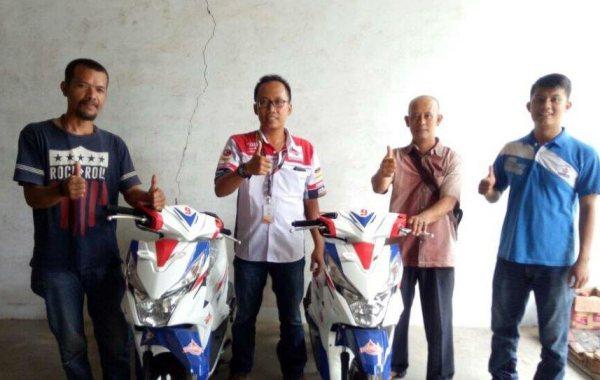 Dua Pemenang Federal Oil Spesial Surprizing Is Back Area Banten Terima Motor Matic