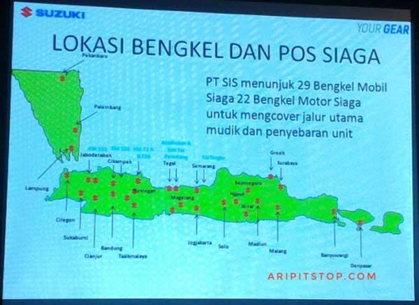 Penting! Ini Dia Daftar Bengkel Siaga Suzuki yang Tersebar di Jalur Mudik 2017