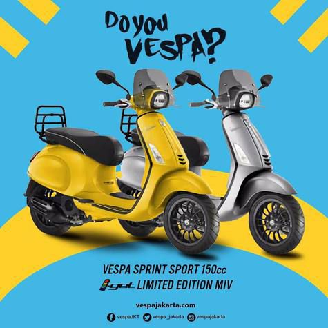 Ini dia Harga Vespa Sprint Sport Limited Edition di Indonesia, Minat?