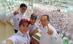 Marc Marquez dan Dani Pedrosa Sapa Indonesia, Haloooo...!!!