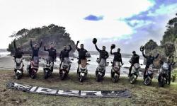 Max Owners Bekasi (MOB) Touring Dan Camping ke Pantai Madasari, Keren!