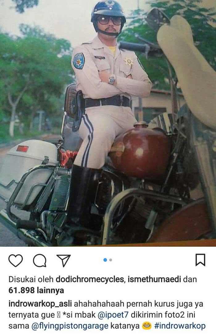 Indro Warkop Pajang Foto Bersama Harley-Davidson, Ada yang tau Ini dari Film apa?