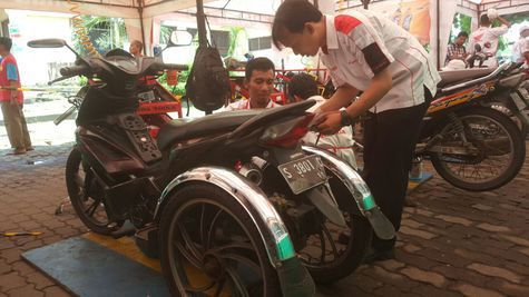 Keren! MPM Beri Service Gratis 200 Motor Milik Bikers Difabel
