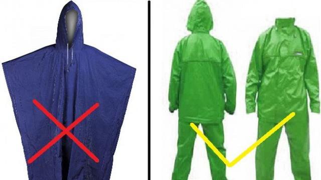 Bahaya Pakai Jas Hujan Ponco, Ini dia alasannya