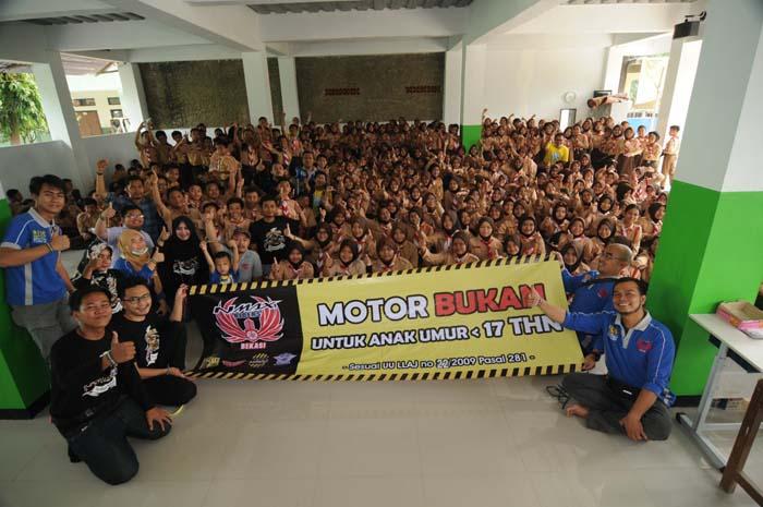 Nentang anak di Bawah Umur Berkendara, Komunitas NMAX Bekasi Gelar Safety Riding