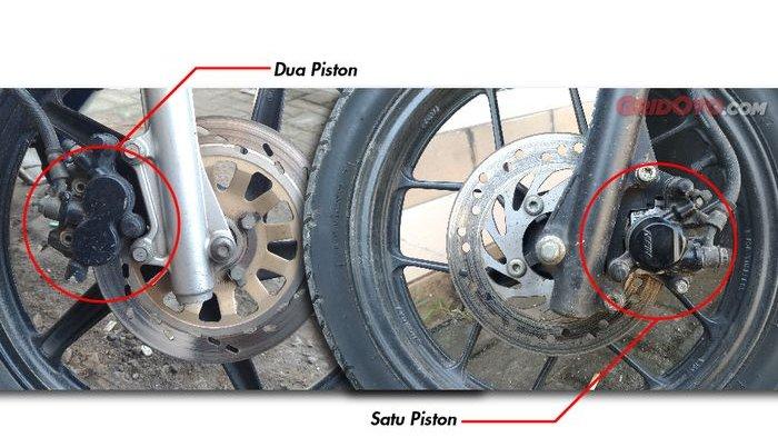 Ini dia Perbedaan Kaliper rem Satu Piston dan Dua Piston