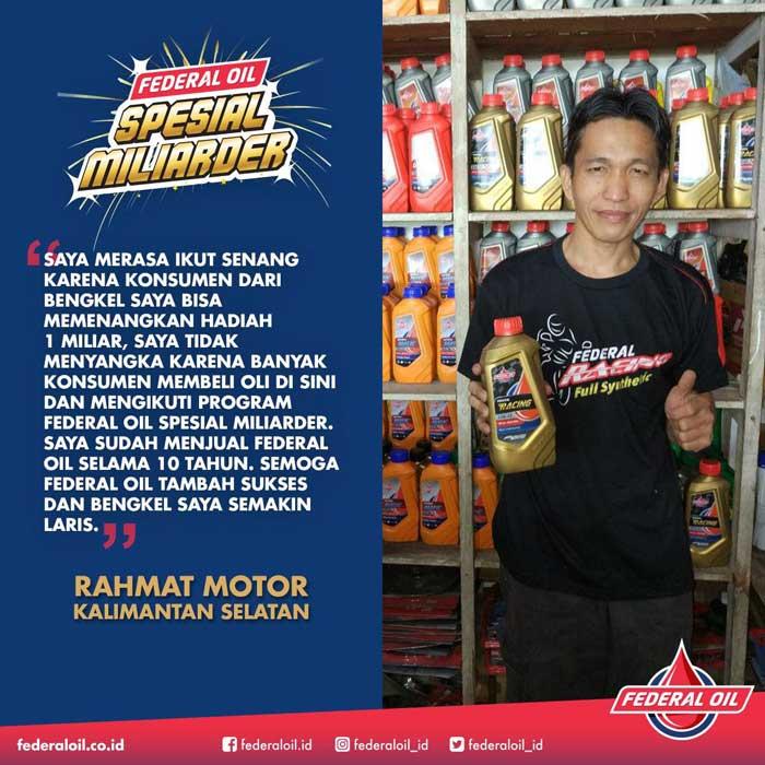 Keren! FOC Rachmat Motor Dapat Hadiah Tour Asia
