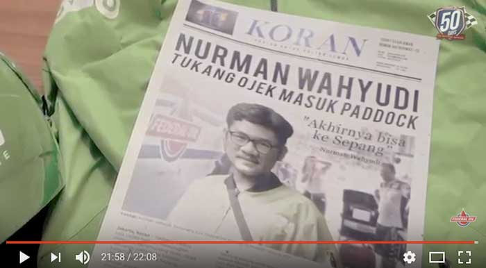 Video Tukang Ojek Masuk Paddock, Yuk Tonton edisi Terakhir dari Kisah Si Nurman, Seru!