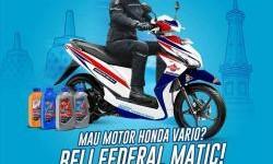 Federal Oil Bagi-bagi Motor Matic, Sorry..Khusus Jawa Tengah!