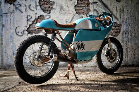 Motor Kustom Caffe Racer milik Gibran Rakabuming, Keren gak?