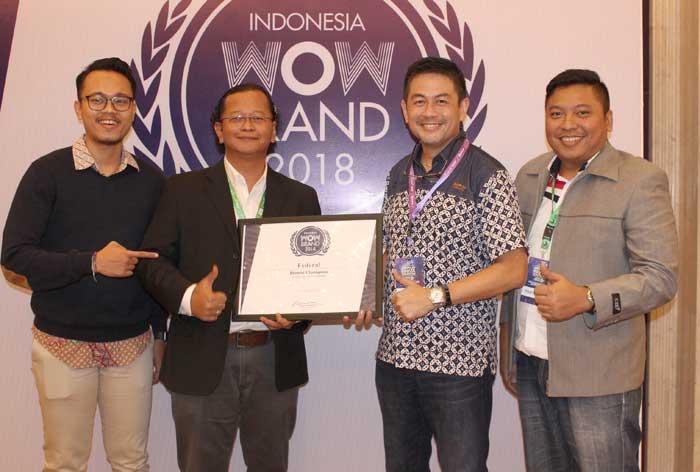 Federal Oil Raih WOW Brand Award 2018, Tunjukan Konsistensi Sebagai Pelumas Jaman Now