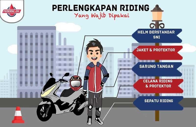 Perlengkapan Riding Yang Wajib Dipakai