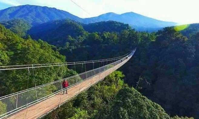 Bikers Piknik, Coba Jembatan Gantung Situ Gunung Sukabumi