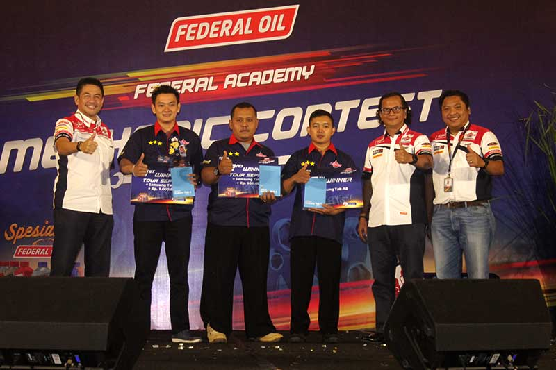 Ini Tiga Mekanik Terbaik Federal Oil Mechanic Contest 2018