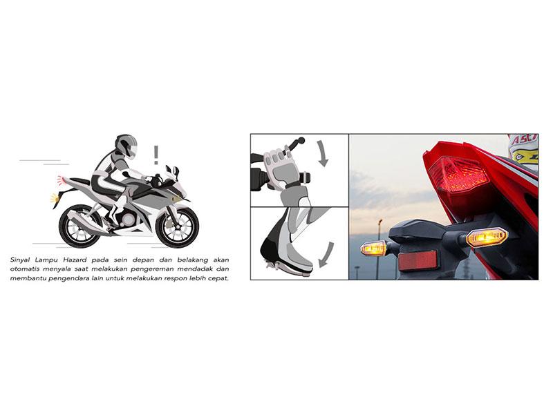 Canggih Honda CBR150R dilengkapi Teknologi Pemberi Isyarat Bahaya