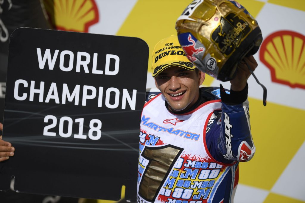 Selamat ! Jorge Martin Juara Dunia Moto3 2018