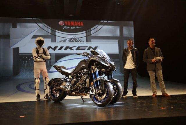 Motor Futuristik Yamaha Niken Ada di IMOS 2018