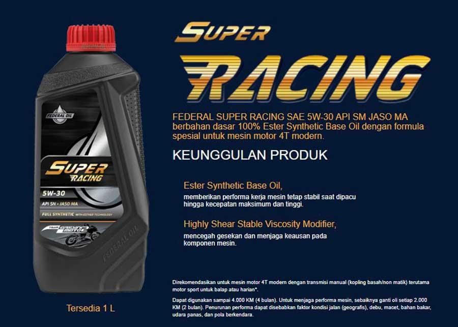 Federal Super Racing Oli Untuk Motor Perfroma Tinggi