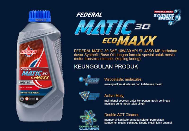 Federal Matic Ecomaxx 30 Oli Spesial Motor Matik Honda