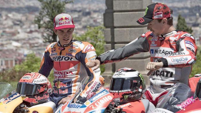 Meski Satu Tim, Marquez Sebut Lorenzo Tetap Musuhnya