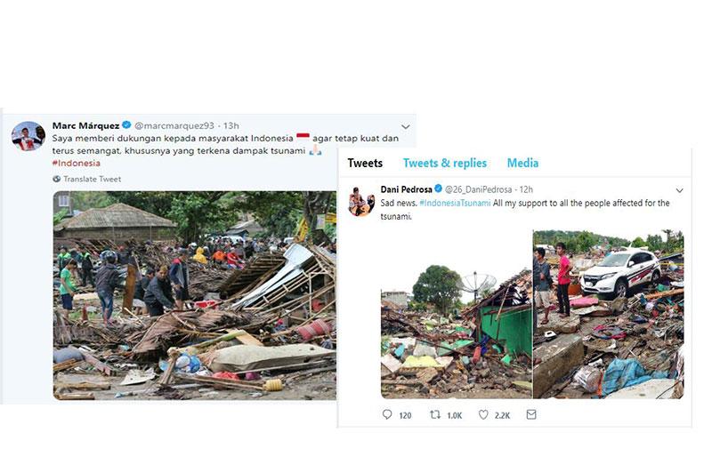 Marquez dan Pedrosa Beri Semangat Untuk Warga Banten dan Lampung