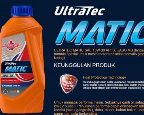 Federal Matic Ultratec 10W-30 Oli Special Untuk Motor Matik Lebih Dari 5 Tahun
