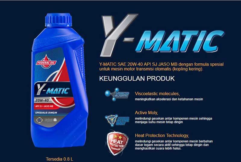 Federal Y-Matic, Oli Motor Matik Yang Cocok Buat Motor Yamaha