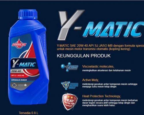 Federal Y-Matic Oli Spesial Untuk Motor Matik Yamaha