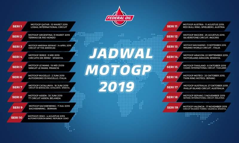 Jadwal MotoGP dan Moto2 2019