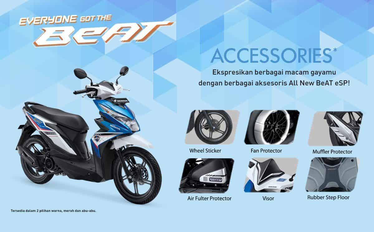Bikin Tampilan Motor BeAT Kamu Makin Keren Dengan Aksesori Honda BeAT
