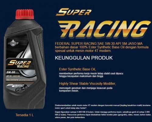 Federal Super Racing, Oli Terbaik Motor Sport